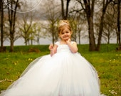 The Miniature Bride Flower Girl Dress with Detachable Train