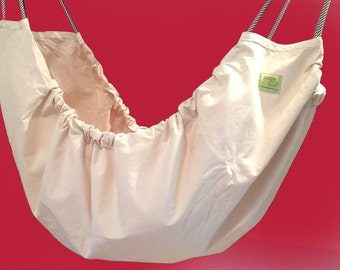 Baby Hammock - Natural unbleached cotton fabric Zaza Nature Baby Hammock. Limited edition.