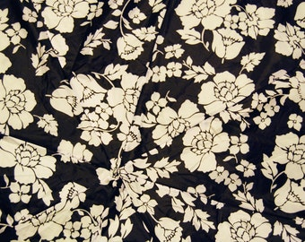 Black and White Mod Flowered Upcycled Umbrella Dog Rain Coat