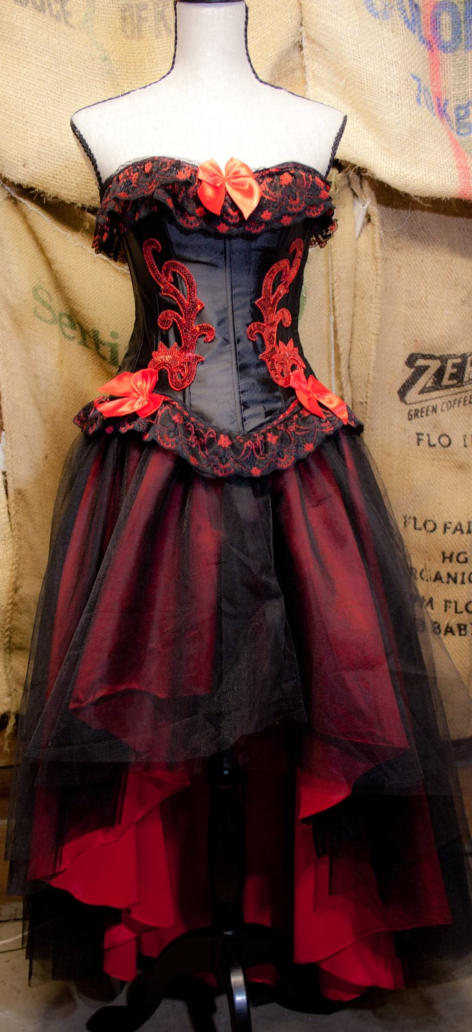 corset tulle gothic prom dress red black red gothic wedding dress zoom