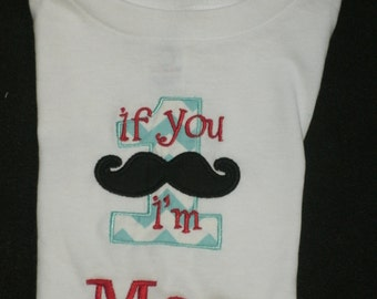 Birthday Mustache Shirt  If you Mustache I am 1