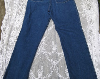 size 12 CALVIN KLEIN womens vintage 1980s 80s high waisted waist jeans