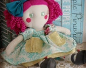 "Betsy Blue Rag Doll 12"""