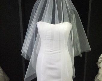 Square Cut Drop Wedding Veil