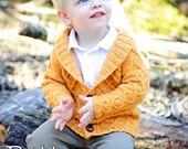 make your own Gramps Cardigan (DIGITAL KNITTING PATTERN) 6 months to age 8 baby toddler child