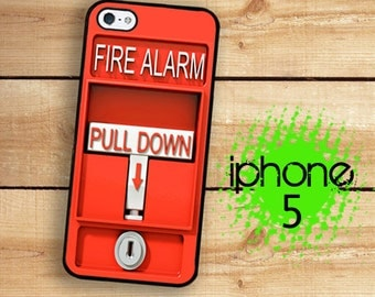 iPhone 5S Case | iPhone 5 Fire Alarm  | Hard Case For iPhone 5 Fire Pull Alarm Great For Firefighters Plastic or Rubber Trim