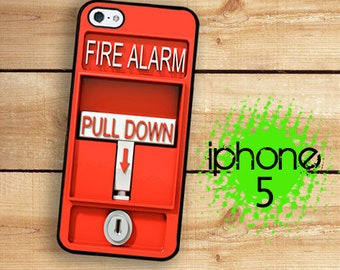 iPhone 5S SE Case | iPhone 5 Fire Alarm  | Hard Case For iPhone 5 Fire Pull Alarm Great For Firefighters Plastic or Rubber Trim