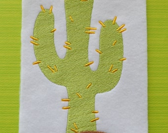 Cactus, INSTANT DOWNLOAD, Embroidery Design for Machine Embroidery 5x7