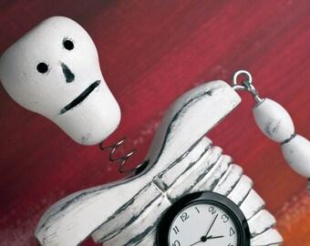 Skeleton Clock Bobblehead