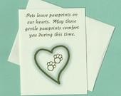 Se peloter sympathie--Pawprints sur nos cœurs - carte prête à expédier