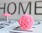 Drawer Knobs Peony Flower in Salmon Pink, more COLORS available (RFK02)