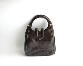 Vintage 1970s Brown Leather Bag