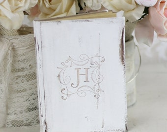 Bridal Shower Rustic Guest Book Shabby Chic Wedding Decor Personalized Custom (Item Number MHD100000)
