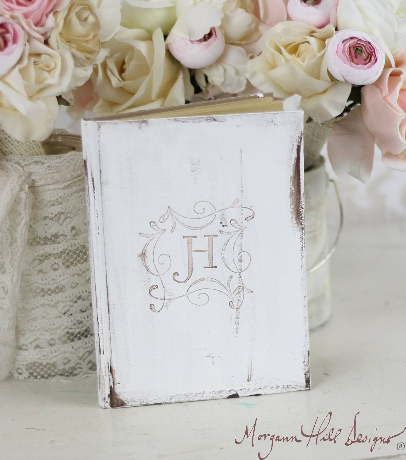 Bridal Shower Rustic Guest Book Shabby Chic