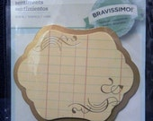 Great New Bravissimo Embellishment - Ledger Paper in Frame with Flourish - from Making Memories - FREE SHIPPING