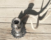 metal bicycle candle holder / velo cyclist fathers day
