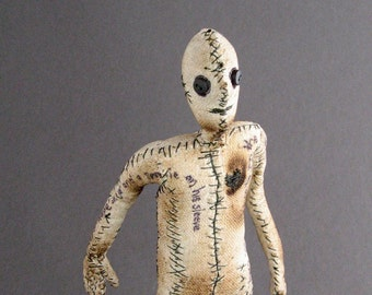 One of a Kind Doll - Stories Untold - Figurative Fabric Sculpture - OOAK Number Eight