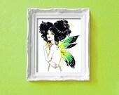 Stella the Green Fairy Nymph Girl 8x10 Fine Art Print