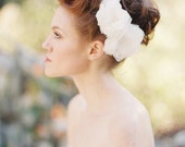 Wedding, Bridal Hair piece, Fascinator, Headpiece, Floral, Lace - Style 207