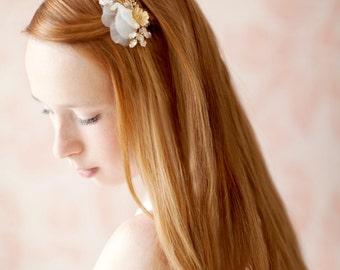 Bridal Hair Piece, Floral, Swarovski Crystal - Style 223