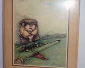 Vintage Golf Print Lining Up by Gary Patterson  1977