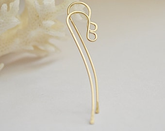 Gold French Hook Ear Wires, Fish Hook Earwirs Earrings - Handmade Earring Supplies - Jewelry Making - Gold Ear Wires - Artisan Earwires
