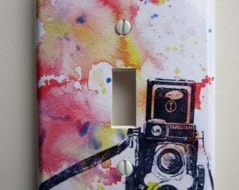 Vintage Rolleiflex Camera Decorative Light Switch Cover