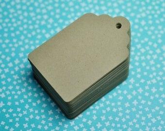 """100 Paper Tag Minis: Kraft Gift Tag Minis 1.5"""" x 2.5"""""""