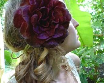 Headpiece, Felt Rose Fascinator