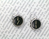 Typewriter Earrings With Fractions - Typewriter Key Jewelry From Haute Keys