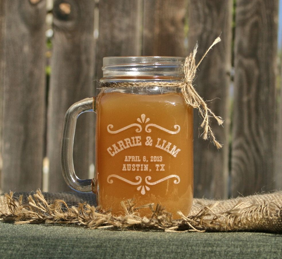 Country Wedding Mason Jars: Rustic Mason Jar Barn Wedding Decor Rustic Toasting Glasses
