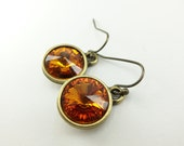 November Birthstone Earrings Citrine Birthstone Earrings Crystal Drop Earrings Dangle Earrings Orange Earrings Crystal