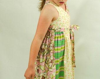 Girl's Wrap Dress, Sundress, Flower Girl Dress, Jumper, Children Clothing, Girl Dresses, Toddler, Size 2T 3T 4T 5 6 7 8