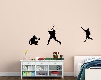 Baseball decal-Baseball sticker-Baseball wall decor-Vinyl wall decal-Big 70 X 22 inches