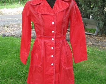 Red Nylon Jacket Ladies size M very lightweight jacket
