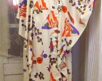 vintage 60s/70s japanese styled lounging kimono