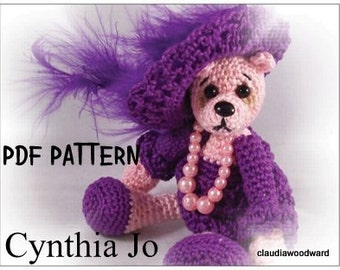 Amigurumi Crochet Doll, Crochet Bear Pattern, amigurumi animal pattern, crochet animal pattern.