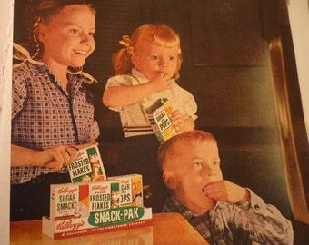 Vintage Ad - Kelloggs Snack Pak Ad from 1960s - Original ad