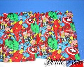 RED Marvel Comics The Avengers Iron Man Hulk Thor Captain America Valance Curtain