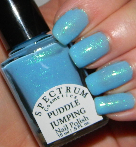 PUDDLE JUMPING Pastel Blue Spring Nail Polish by ...