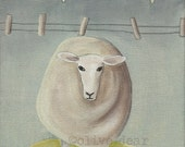 art print, sheep, print of an original painting