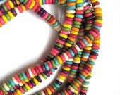 Howlite Spacers 6 x 2 mm - 1 Strand - 16 inches