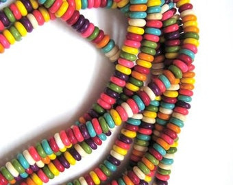 howlite spacers 6x2mm- 1 strand - 16 inches