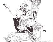 Marc-Andre Fleury - Pittsburgh Penguins Goalie - Original Illustration