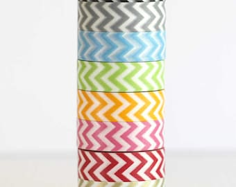 Washi Tape SET ANY 8 (2.50 and Less) Wedding Birthday Party Decor Craft Packaging Chevron