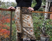 Wool fitted skirt, Natural print