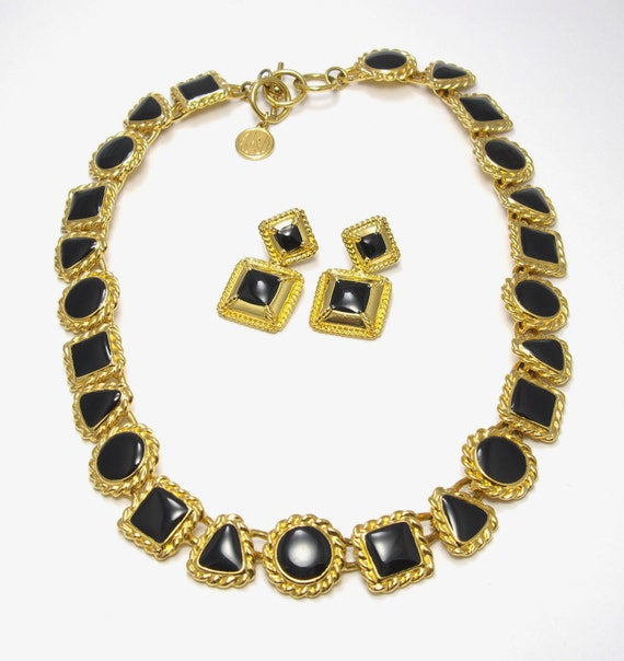 vintage anne klein geometric necklace and by