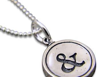 Personalized Necklace Sterling Silver All Letters Available