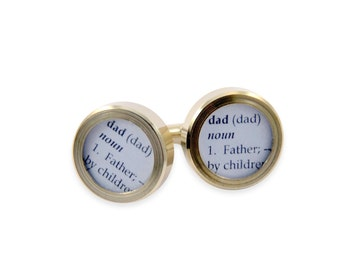 Definition of DAD - Cuff links by Gwen DELICIOUS Jewelry Design