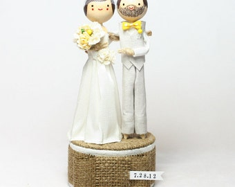 Custom Wedding Cake Topper with STANDARD LONG DRESS